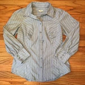 Anthropologie Odille Striped Button Down, size 6